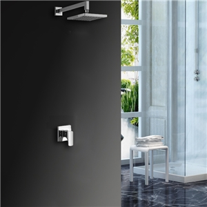 Square LED Shower Faucet Chrome Shower Faucet without Hand Shower