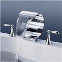 Roman Waterfall Garden Tub Faucet Modern Bath Mixer Tap with 2 Handles