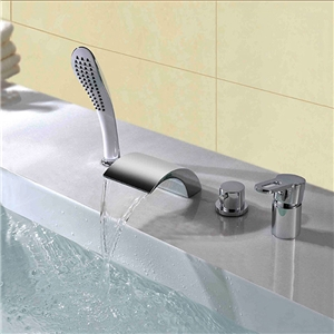 Special Waterfall Tub Faucet Contemporary Chrome Bathtub Tap