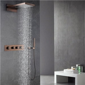Waterfall Rain Shower Faucet Oil Rubbed Bronze Shower System