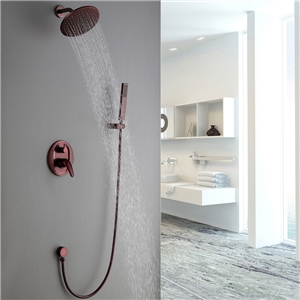 ORB Rain Shower Faucet Modern In-wall Round Shower System