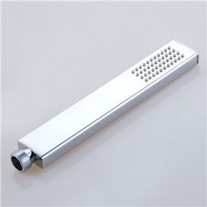 Straight Chrome Handheld Shower Solid Brass Square Handheld Shower Head