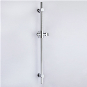 Chrome Handheld Shower Bar Wall Mounted Round Hand Showerhead Slide Bar