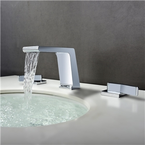Deck Mount Chrome Sink Faucet Special Waterfall Bathroom Sink Tap