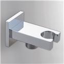 Chrome Handheld Shower Holder Modern Square Hand Shower Holder