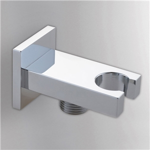 Chrome Handheld Shower Holder Modern Square Hand Shower Holder