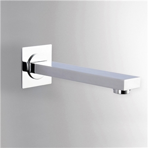 Solid Brass Tub Faucet Polished Chrome Wall Mount Flat Bathtub Tap