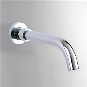 Curved Chrome Tub Faucet Wall Mount Round Bathtub Tap