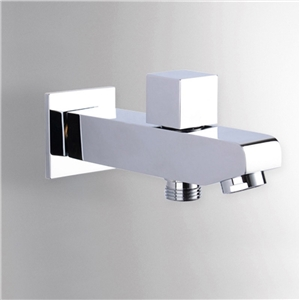 Solid Brass Tub Faucet Wall Mounted Square Bathtub Tap