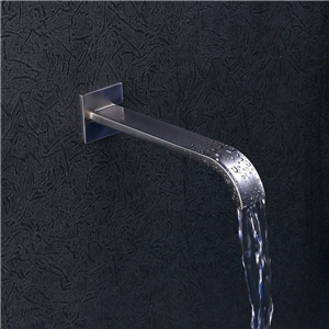 Brushed Nickel Tub Faucet Contemporary Wall Mount Bathtub Tap