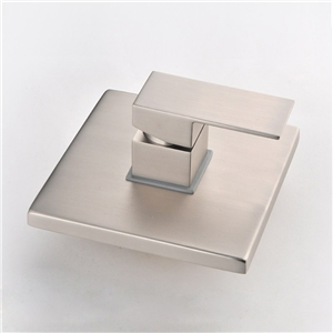 Brushed Nickel Shower Valve Modern Square Shower Valve Single-function