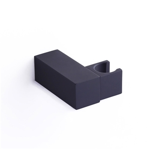 Black Square Hand Shower Holder Solid Brass Hand Shower Holder