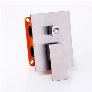 Brushed Nickel Shower Valve Simple Square Three-function Shower Valve