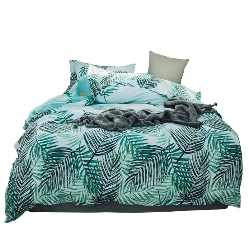 Green Leaf Bedding Set Pure Cotton Rural Bedclothes