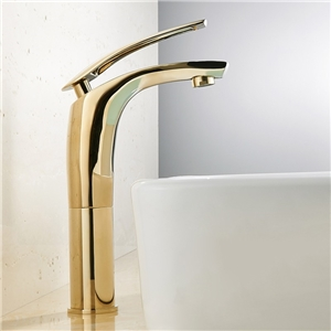 Simple High Sink Faucet Widespread Bathroom Sink Tap