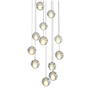 Seeded LED Cluster Pendant Light with Crystal Ball