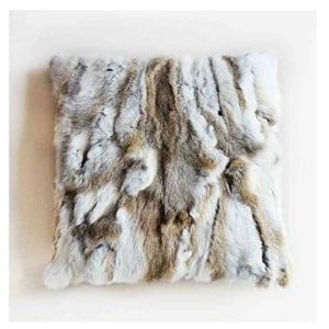 Modern Pillowcase Sofa Pillow Cover Faux Rabbit Fur Pillow Cover Fur Cushion