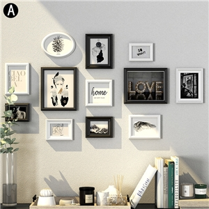 Modern Home Decor Photo Frame Solid Wood Picture Frame Photo Wall 12pcs/set YMQZPQ012