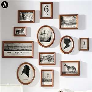 Modern Picture Frame Home Decor Photo Wall Solid Wood Photo Frame 12pcs/set TXSC