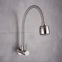 Omni-directional Wall Mount Kitchen Tap Stainless Steel Kitchen Tap