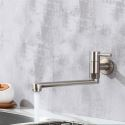 Stainless Steel Kitchen Faucet Wall Mount Swivel Kitchen Tap