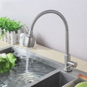 Stainless Steel Kitchen Faucet Brushed Nickel Omni-directional Tap