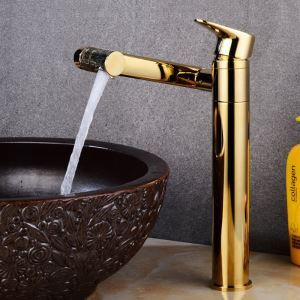 Special Swivel Basin Faucet High Golden Sink Tap