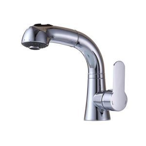 Modern Pull-out Faucet Chrome Basin Tap
