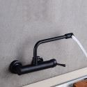 Wall Mount Kitchen Mixer Tap Matte Black Faucet