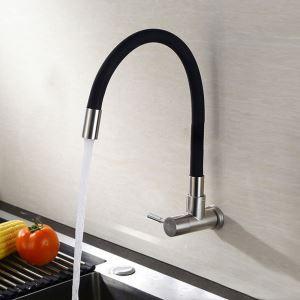 Black Rubber Kitchen Faucet Unique Omni-directional Kitchen Tap