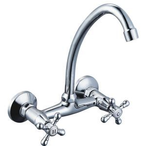 Contemporary Chrome Kitchen Faucet Wall Mount Kitchen Tap