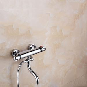 Thermostatic Shower Diverter Valve Round Chrome Diverter Valve with Tub Spout