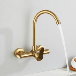Wall Mount Kitchen Tap Luxurious Gold Kitchen Faucet