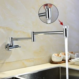 Creative Foldable Kitchen Faucet Modern Chrome Kitchen Tap