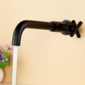 Wall Mount Matte Black Cold Water Sink Faucet Basin Tap