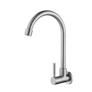 High Curved Kitchen Faucet Modern Chrome Kitchen Tap
