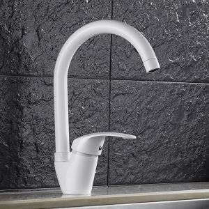 Clean White Kitchen Faucet Modern Elegant Kitchen Tap