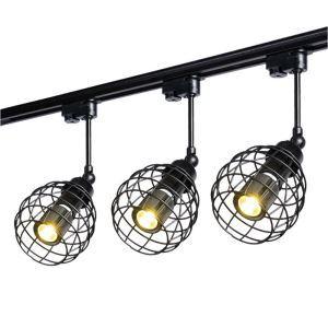 Vintage Ceiling Spotlight Industrial Track Light Dining Room Clothing Shop Coffeehouse Bar Lighting(Single Light)