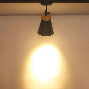 Nordic Household Track Light Modern Simple Ceiling Spotlight Clothing Shop Backdrop Lighting(Single Light)