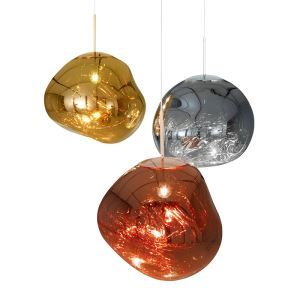 Irregular Lava Pendant Light Coloured Glass Pendant Light Living Room Bedroom Study Light