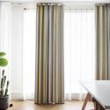 Nordic Modern Jacquard Curtain Contrast Stripes Curtain Living Room Bedroom Study Fabric(One Panel)