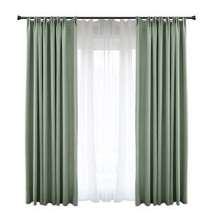 Solid Green Blackout Curtain Modern Simple Curtain Living Room Bedroom Fabric(One Panel)