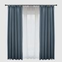 Solid Blue Blackout Curtain Modern Simple Curtain Living Room Bedroom Fabric(One Panel)