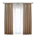 Solid Coffee Blackout Curtain Modern Simple Curtain Living Room Bedroom Fabric(One Panel)