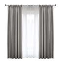 Solid Grey Blackout Curtain Modern Simple Curtain Living Room Bedroom Fabric(One Panel)