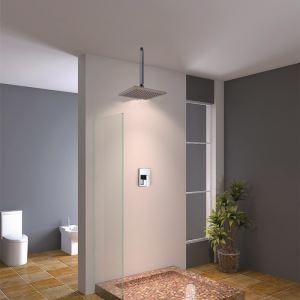 Simple Shower Faucet Square Ceiling Mount Rain Shower
