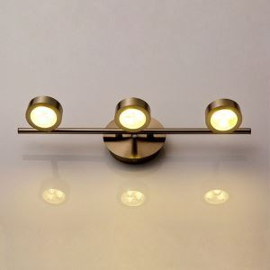 Modern Makeup Light Round LED Dressing Light Waterproof Antifogging Bathroom Wall Sconce