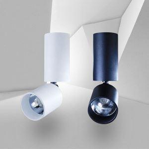 Exposed Rotatable Spotlight Modern LED Ceiling Spotlight Clothing Shop Net Bar Lighting(Single Light)