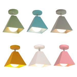 Creative LED Spotlight Modern Iron Chromatic Spotlight Macaron Ceiling Lighting(Single Light)