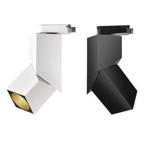 Modern Square LED Spotlight Exposed Ceiling Spotlight Aisle Hallway Window Display Lighting(Single Light)